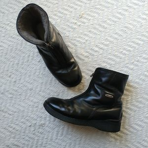 Pajar Leather Boots With Genuine Shearing